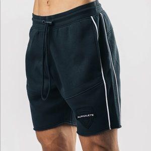 NWT BLACK/WHITE Alphalete Varsity Shorts